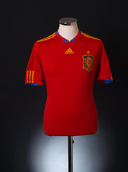 2010 Spain Home Shirt S