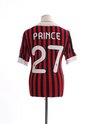 2011-12 AC Milan European Home Shirt Prince #27 M