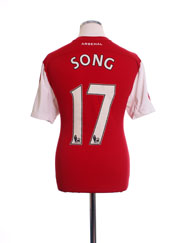 2011-12 Arsenal '125th Anniversary' Home Shirt Song #17 M