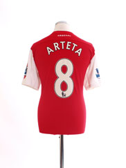 2011-12 Arsenal '125th Anniversary' Home Shirt Arteta #8 L