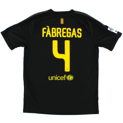 2011-12 Barcelona Away Shirt Fabregas #4 XL.Boys