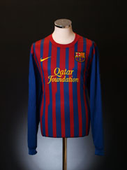 2011-12 Barcelona Home Shirt *Mint* L/S L