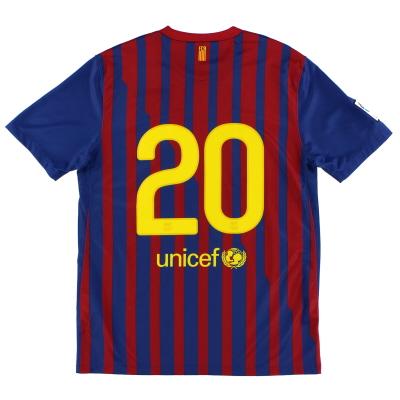 2011-12 Barcelona Home Shirt #20 L