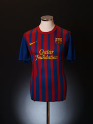 2011-12 Barcelona Home Shirt L