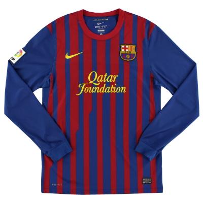2011-12 Barcelona Home Shirt L/S L