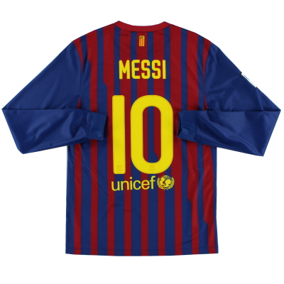 2011-12 Barcelona Home Shirt Messi #10 L/S S