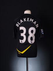 2011-12 Bolton Player Issue Away Shirt Blakeman #38 *As New*