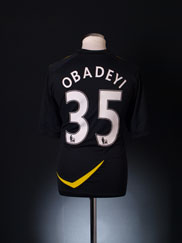 2011-12 Bolton Player Issue Away Shirt Obadeyi #35 *As New* L