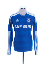 2011-12 Chelsea TechFit Player Issue Home Shirt L/S M/L