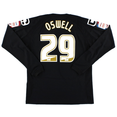 2011-12 Crewe Alexandra Match Issue Away Shirt Oswell #29 L/S L