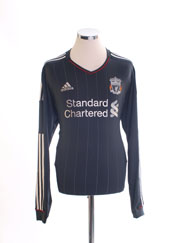 2011-12 Liverpool Away Shirt L/S *Mint* L