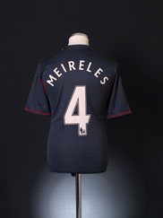 2011-12 Liverpool Away Shirt Meireles #4 M