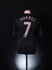 2011-12 Liverpool Away Shirt Suarez #7 S