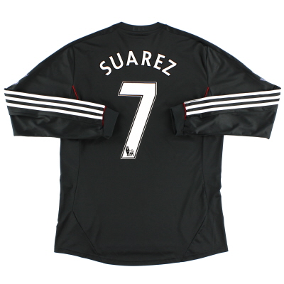 2011-12 Liverpool Away Shirt Suarez #7 L/S L