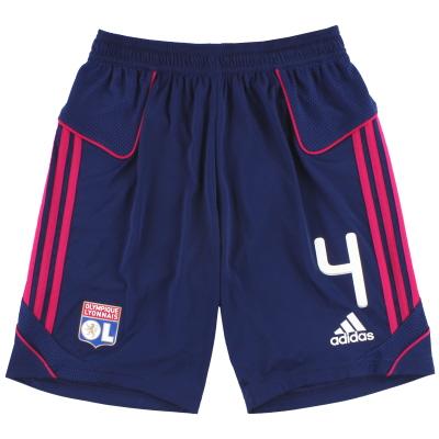 2011-12 Lyon adidas Away Shorts #4 *Mint* M