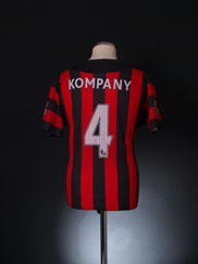 2011-12 Manchester City Away Shirt Kompany #4 XL