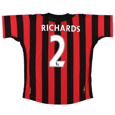 2011-12 Manchester City Away Shirt Richards #2 L