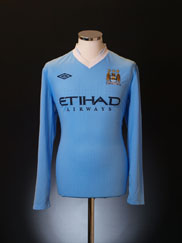 2011-12 Manchester City Home Shirt L/S S