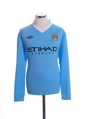 2011-12 Manchester City Home Shirt L/S L