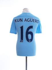 2011-12 Manchester City Home Shirt Kun Aguero #16 M