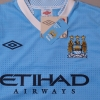 2011-12 Manchester City Home Shirt *BNWT* L/S S