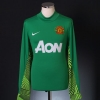 2011-12 Manchester United Goalkeeper Shirt De Gea #1 S