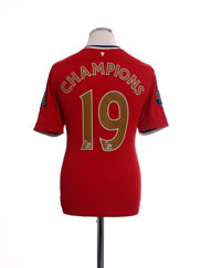 2011-12 Manchester United Home Shirt Champions #19 M