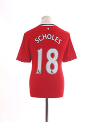 2011-12 Manchester United Home Shirt Scholes #18 M