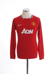 2011-12 Manchester United Home Shirt L/S XL.Boys