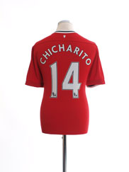 2011-12 Manchester United Nike Home Shirt Chicharito #14 L