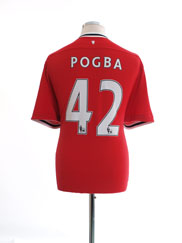 2011-12 Manchester United Nike Home Shirt Pogba #42 XL