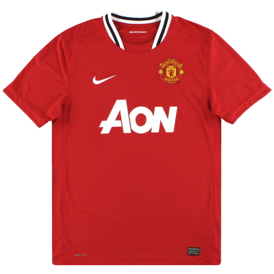 2011-12 Manchester United Nike Home Shirt S