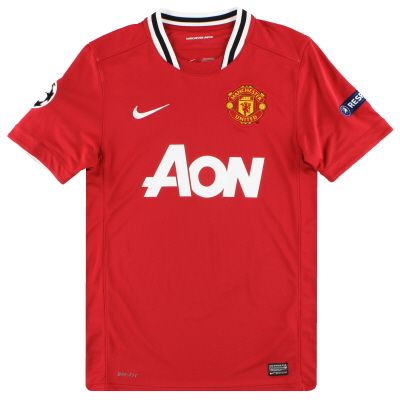 2011-12 Manchester United Nike CL Home Shirt S