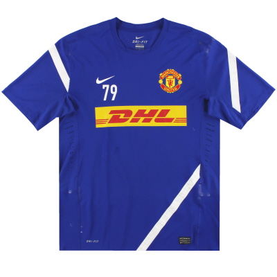 2011-12 Manchester United Nike Player Issue Training Shirt #79 L