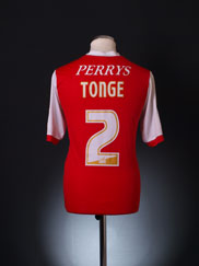 2011-12 Rotherham Home Shirt Tonge #2 M