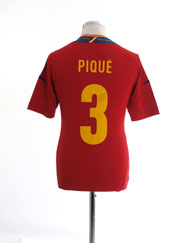 2011-12 Spain Home Shirt Pique #3 *Mint* S