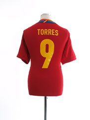 2011-12 Spain Home Shirt Torres #9 XL