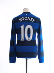 2011-13 Manchester United Away Shirt Rooney #10 L/S M
