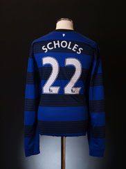 2011-13 Manchester United Away Shirt Scholes #22 *Mint* XXL