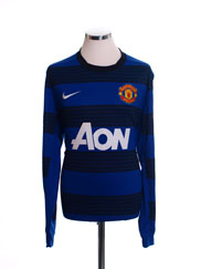 2011-13 Manchester United Away Shirt L/S M.Boys