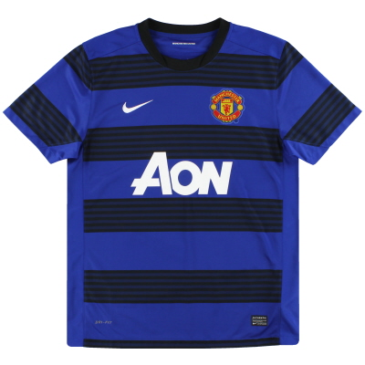2011-13 Manchester United Nike Away Shirt L.Boys