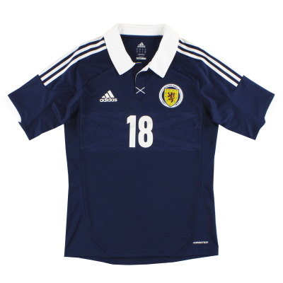 2011-13 Scotland adidas Player Issue Home Shirt #18 M