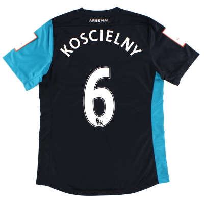 2011 Arsenal Match Issue Emirates Cup Away Shirt Koscielny #6 L
