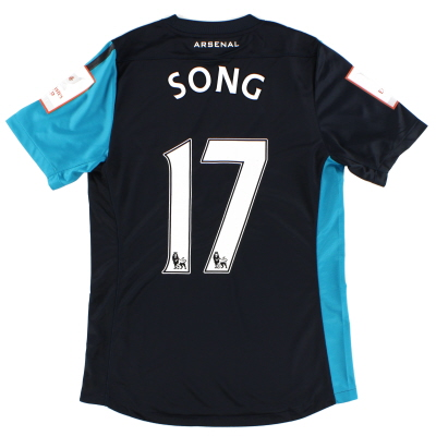 2011 Arsenal Match Issue Emirates Cup Away Shirt Song #17 M