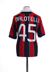 2012-13 AC Milan Home Shirt Balotelli #45 M