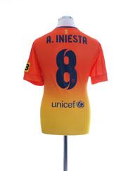 2012-13 Barcelona Away Shirt A. Iniesta #8 M
