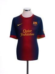 2012-13 Barcelona Home Shirt L