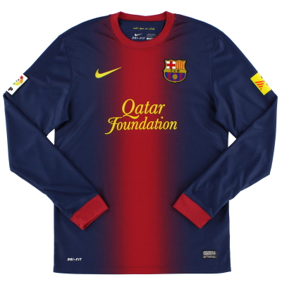 2012-13 Barcelona Home Shirt L/S S