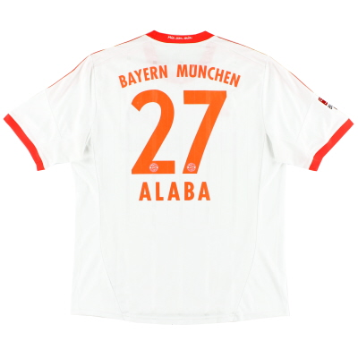 2012-13 Bayern Munich Away Shirt Alaba #27 XL