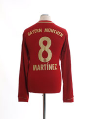 2012-13 Bayern Munich Home Shirt Martinez #8 L/S L